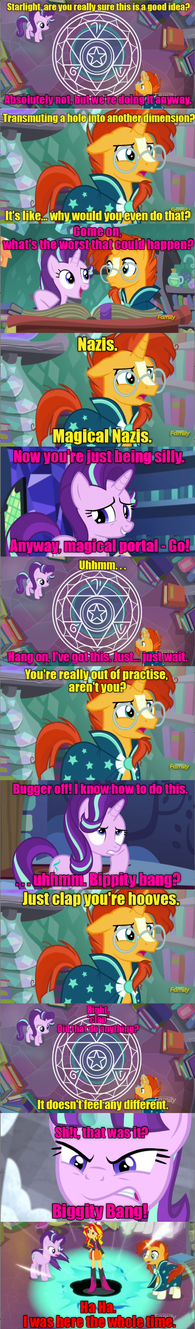 celestial advice equestria girls sunburst starlight glimmer screencap comic sunset shimmer - 9035316224