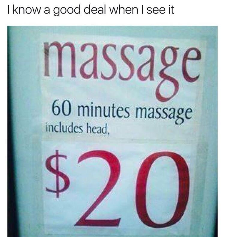 Massage meme