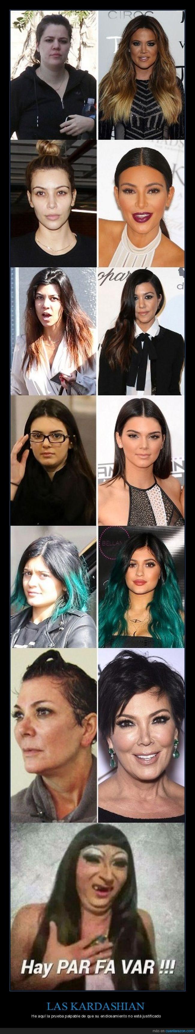 las Kardashian sin maquillaje son chicas del monton