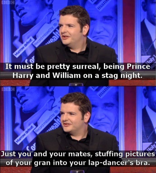Scottish tweet about Prince Harry and William going to a strip club