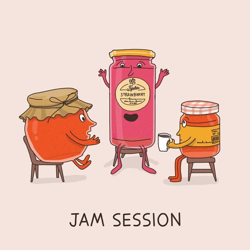 Cartoon - STRAWBERRY JAM SESSION