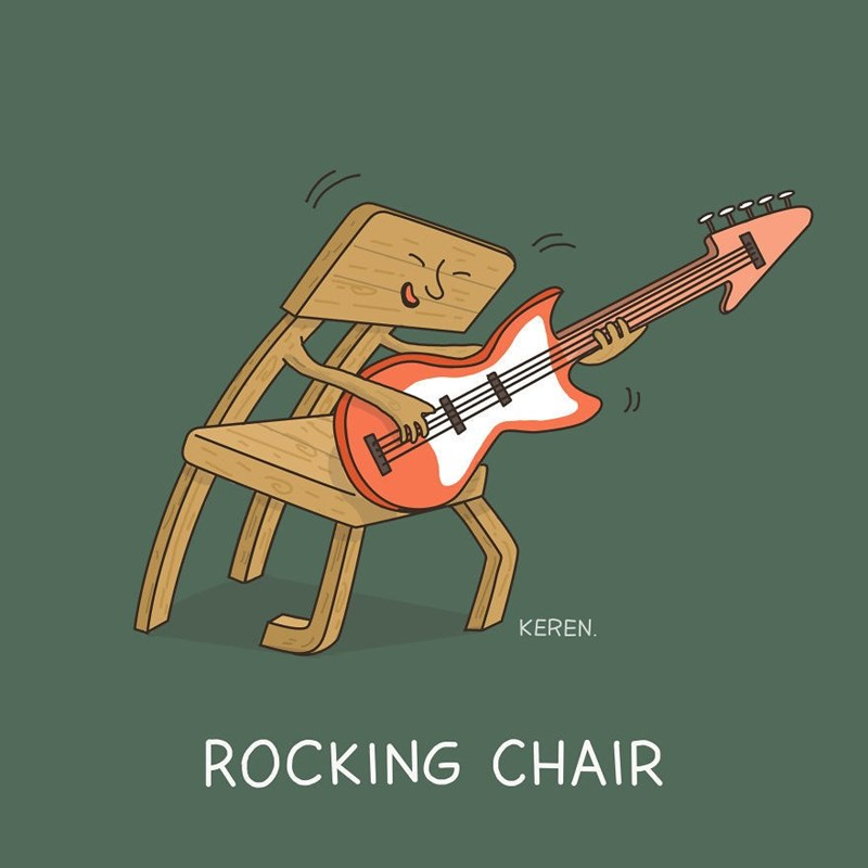Guitar - KEREN ROCKING CHAIR