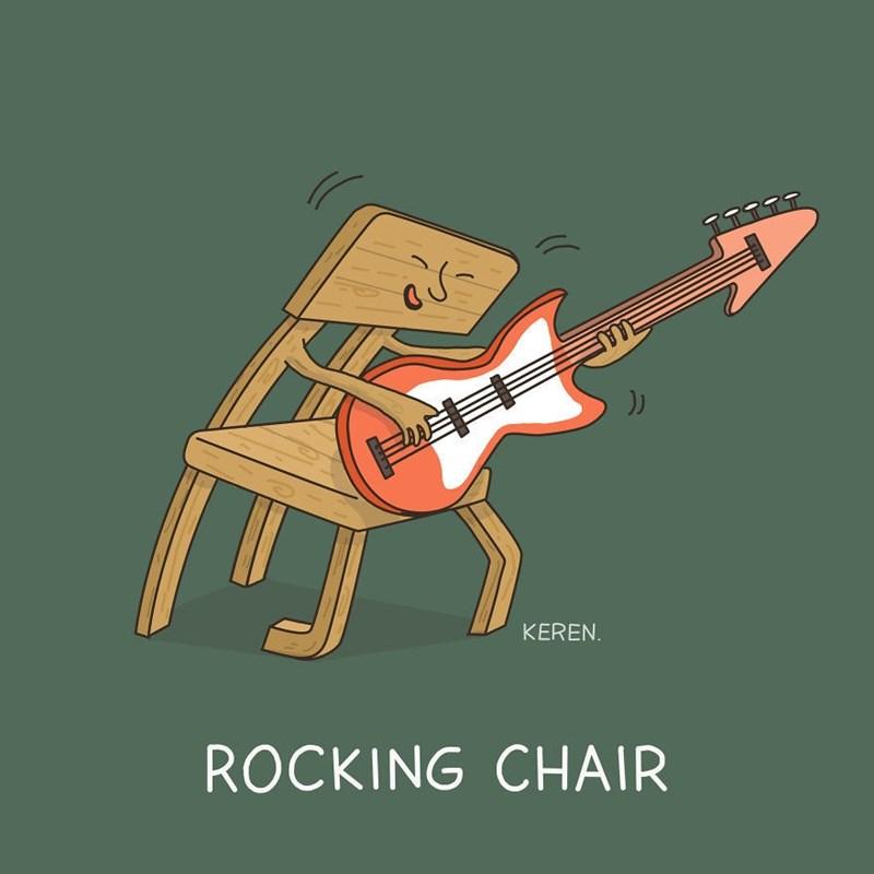 Guitar - KEREN ROCKING CHAIR