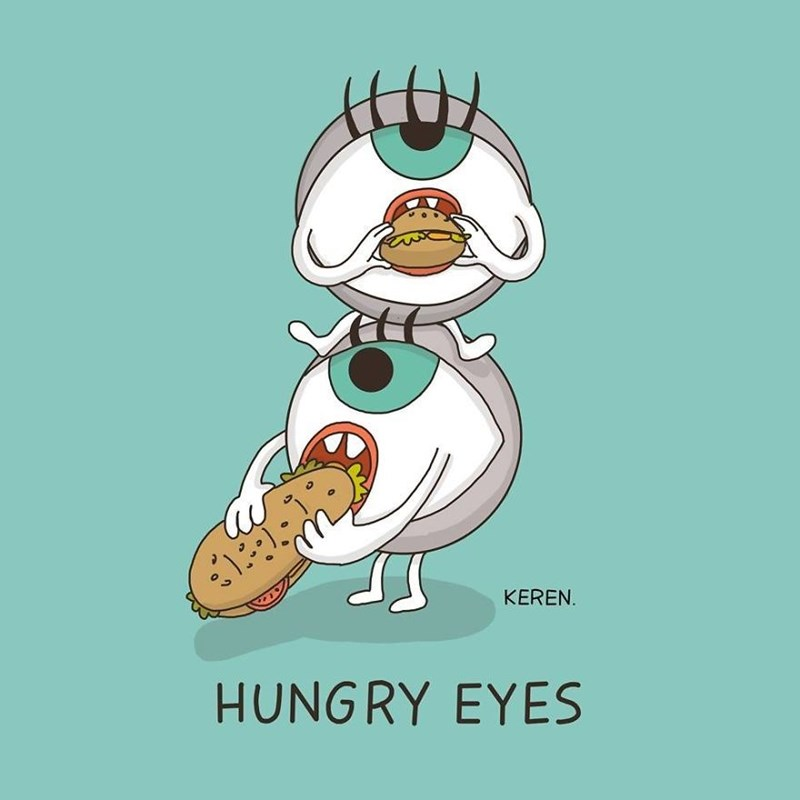 Cartoon - KEREN. HUNGRY EYES