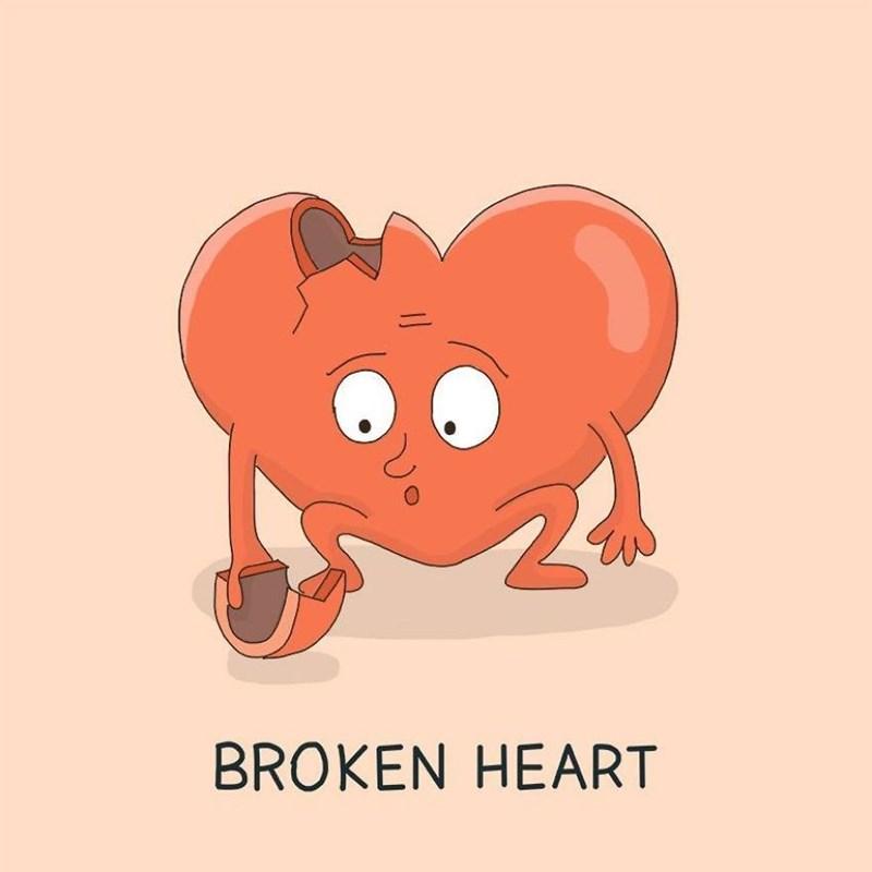 Cartoon - BROKEN HEART