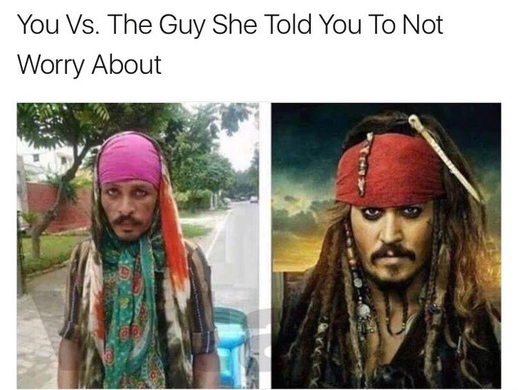 Thrusday meme comparing pics of Jack Sparrow and a man in bandanna