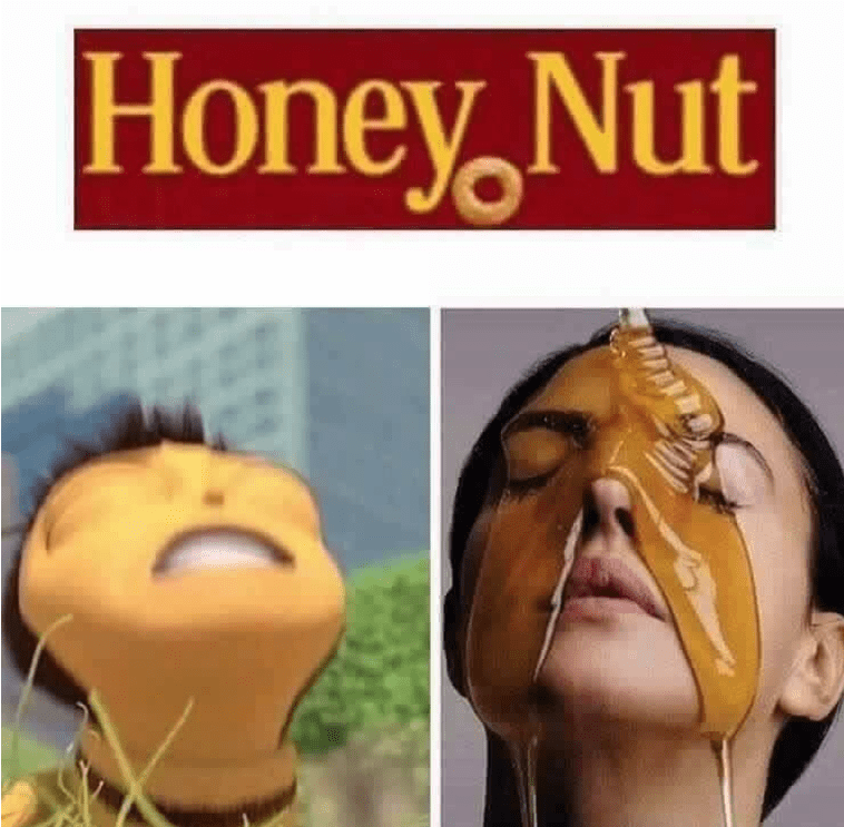 thirsty Thrusday meme about honey nut being a name for bees sperm