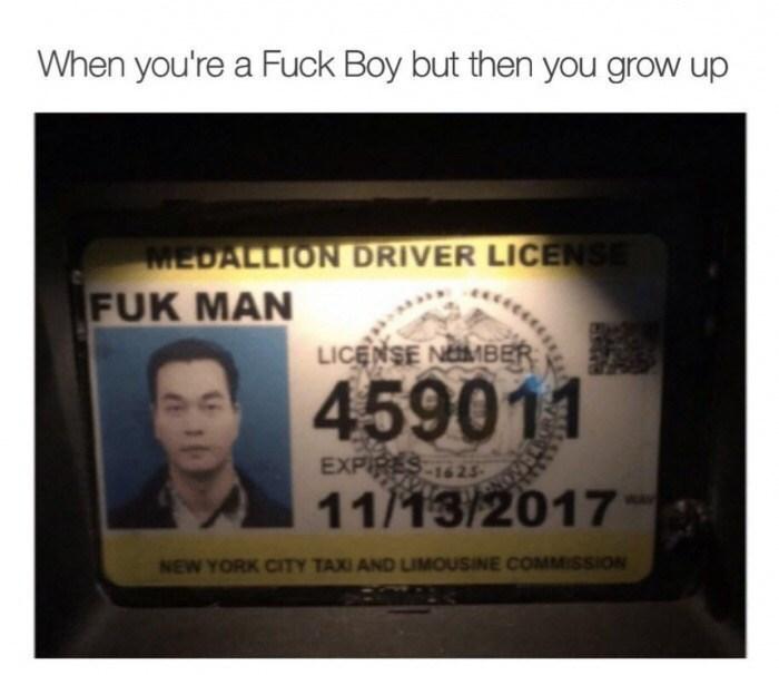 Thrusday meme about fuck boys growing into fuck men