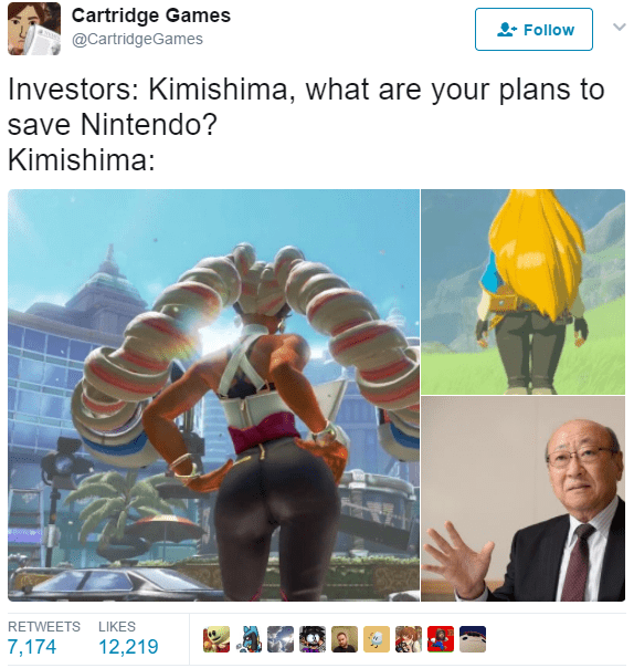 thirsty Thrusday meme about Nintendo using attractive female characters to stay relevant