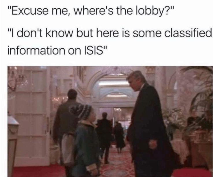 Thrusday meme about Trump making a cameo in Home Alone
