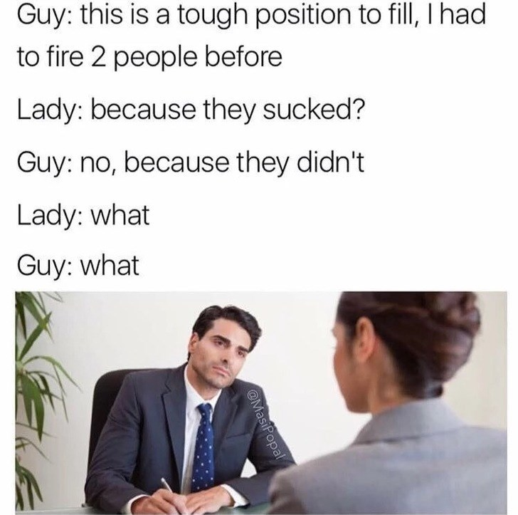 thirsty Thrusday meme about a boss acting inappropriate with his employee