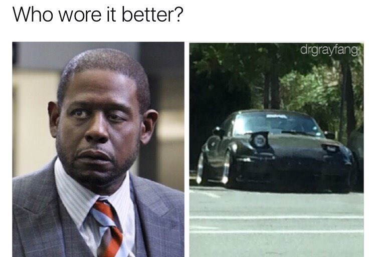 Funny meme comparing Forest Whitaker to a car.