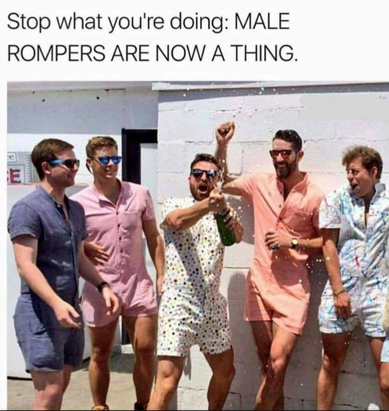 Fashion - Stop what you're doing: MALE ROMPERS ARE NOW A THING e E