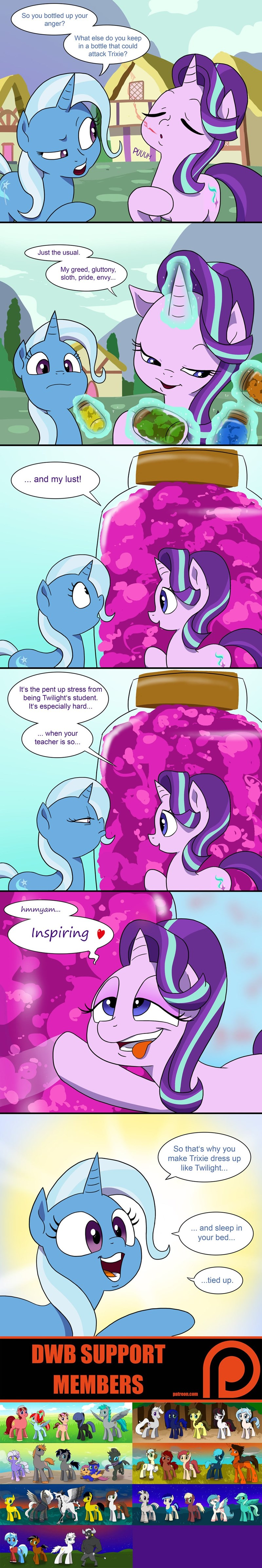 shipping the great and powerful trixie starlight glimmer all bottled up comic double w brothers - 9036549888