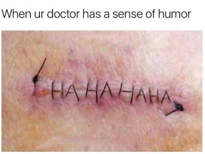 Skin - When ur doctor has a sense of humor HA HAHAHA.