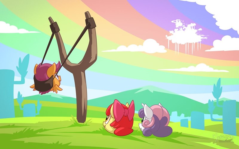 applejack angry birds Sweetie Belle mysticalpha ponify Scootaloo