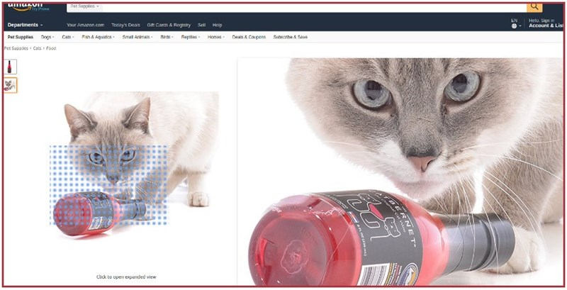 Screen grab off amazon of Catbernet wine for cats - As Seen On Shark Tank