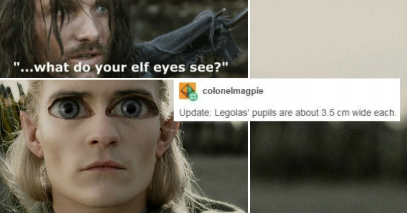 Tumblr physicists theorize on Tumblr about the curvature of Middle Earth and why Legolas' eyes are so creepy.