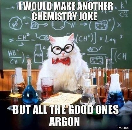 Chemestry joke owl cat.