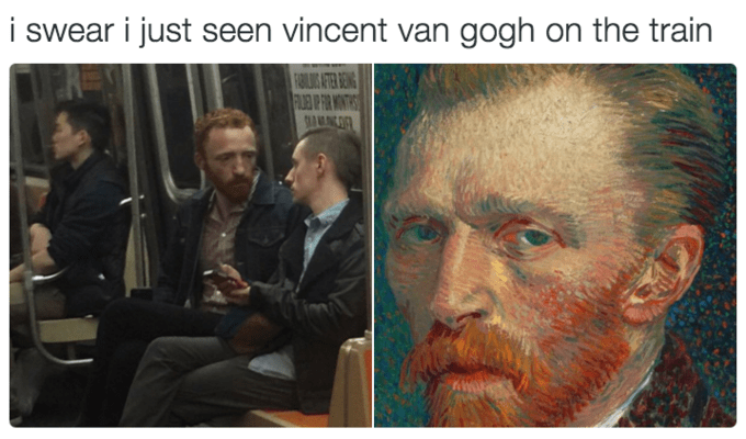 Forehead - i swear i just seen vincent van gogh on the train FARIAT