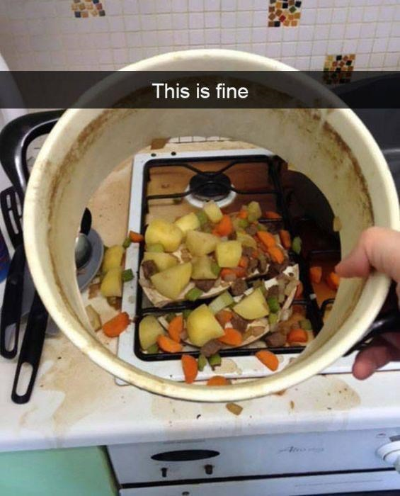 snapchat - Food - This is fine