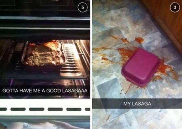 snapchat - Technology - 5 GOTTA HAVE ME A GOOD LASAGAAA MY LASAGA