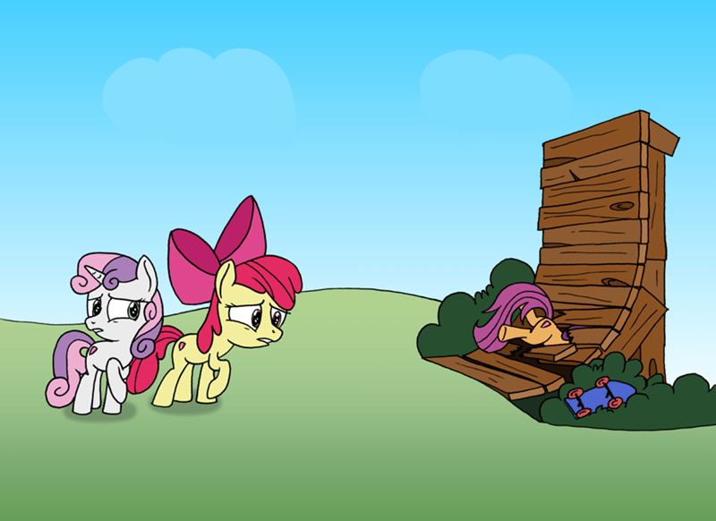 parental glideance Sweetie Belle apple bloom Scootaloo ravio-li - 9037505280