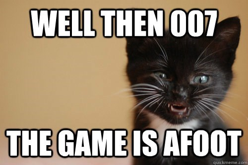 007 cat meme with kitten as villain