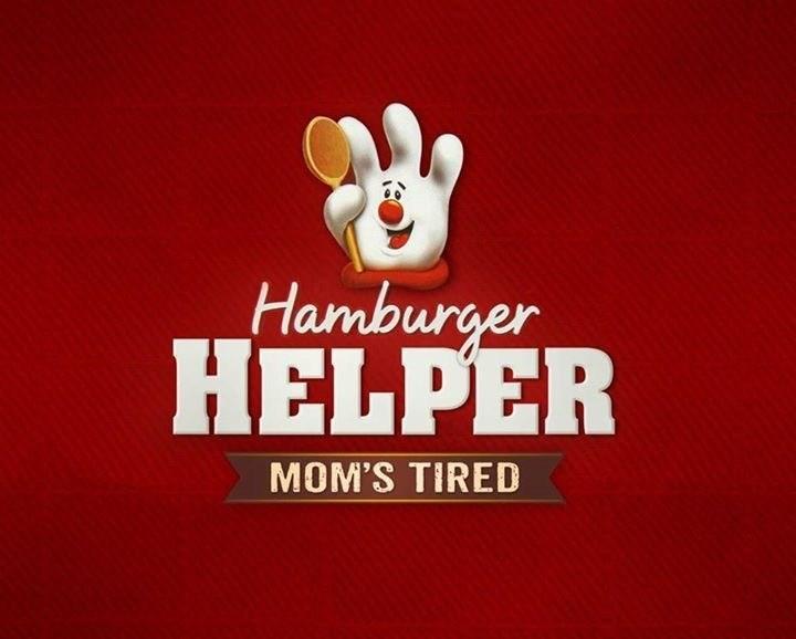 Logo - Hamburger HELPER MOM'S TIRED