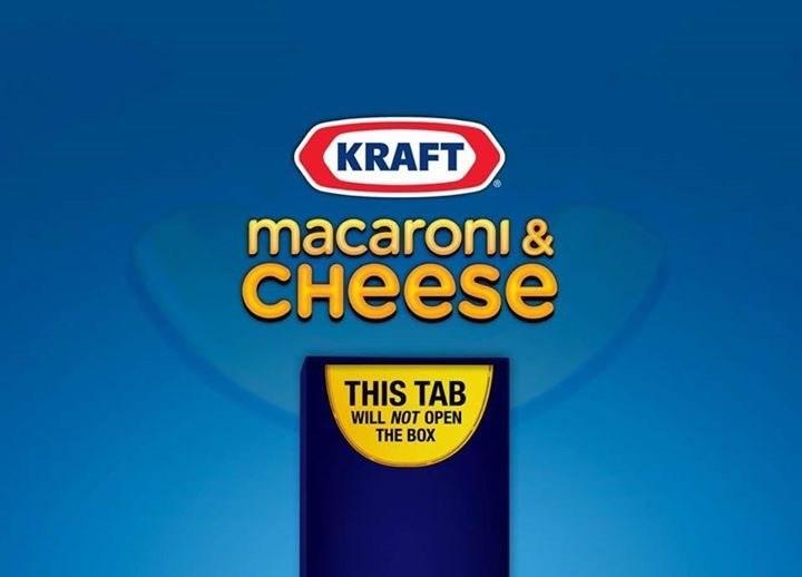 Font - KRAFT macaroni & снеese THIS TAB WILL NOT OPEN THE BOX