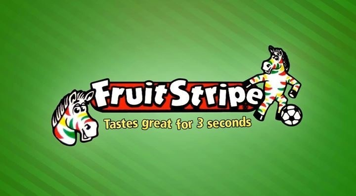 Green - truit Stripe Tastes great for 3 seconds