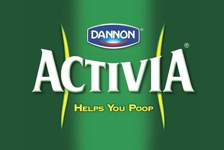 Green - DANNON ACTIVIA HELPS YOU POOP