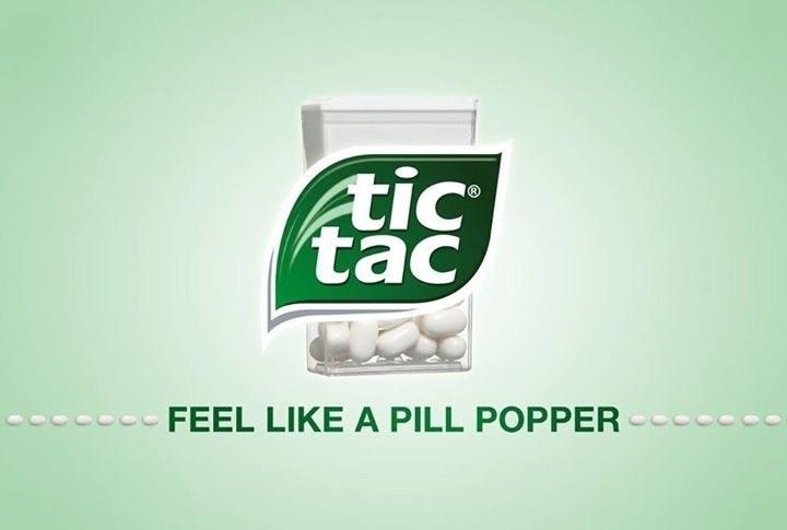 Green - tic tac FEEL LIKE A PILL POPPER