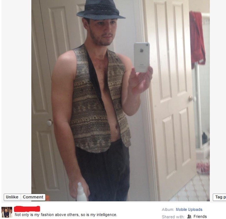 cringey neckbeard - Selfie - Unlike Comment Tag p Album: Mobile Uploads Not only is my fashion above others, so is my intelligence. Shared with: Friends