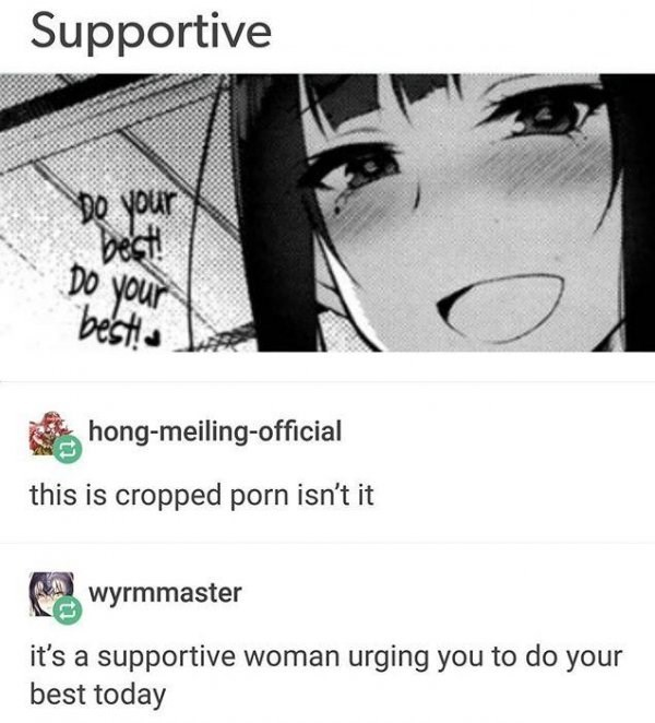 cropped anime porn wholesome meme