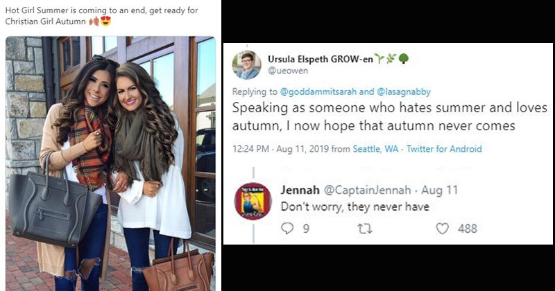 Funny tweets making fun of 'Christian Girl Autumn'