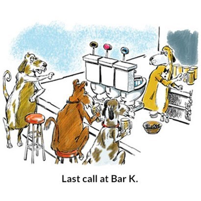 Cartoon - Last call at Bar K.