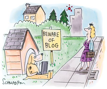Cartoon - BEWARE OF BLOG SCHWADP
