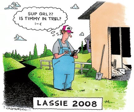 Cartoon - SUP GRL?? IS TIMMY IN TRBL? -C LASSIE 2008 ZALEWEL