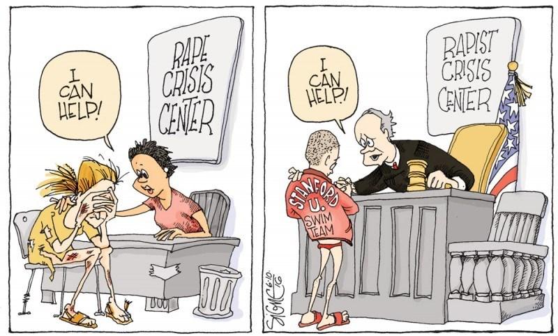 Cartoon - BAPE CRISTS CENVER RAPIST CRISIS CENER I CAN HELP/ CAN HELP! SWIM TEAM