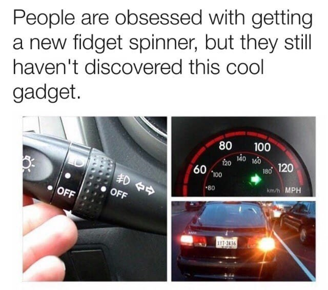 Thursday meme showing how cool using the signal can be when you're driving