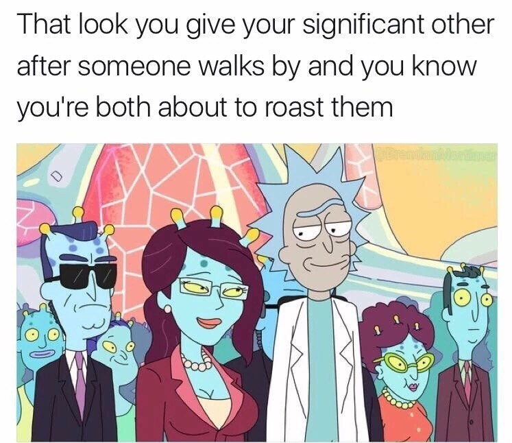 Thursday meme of Rick giving a look to a woman