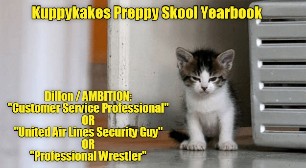 Dillion cat's kuppykakes preppy skool yeark book photo and profile meme.
