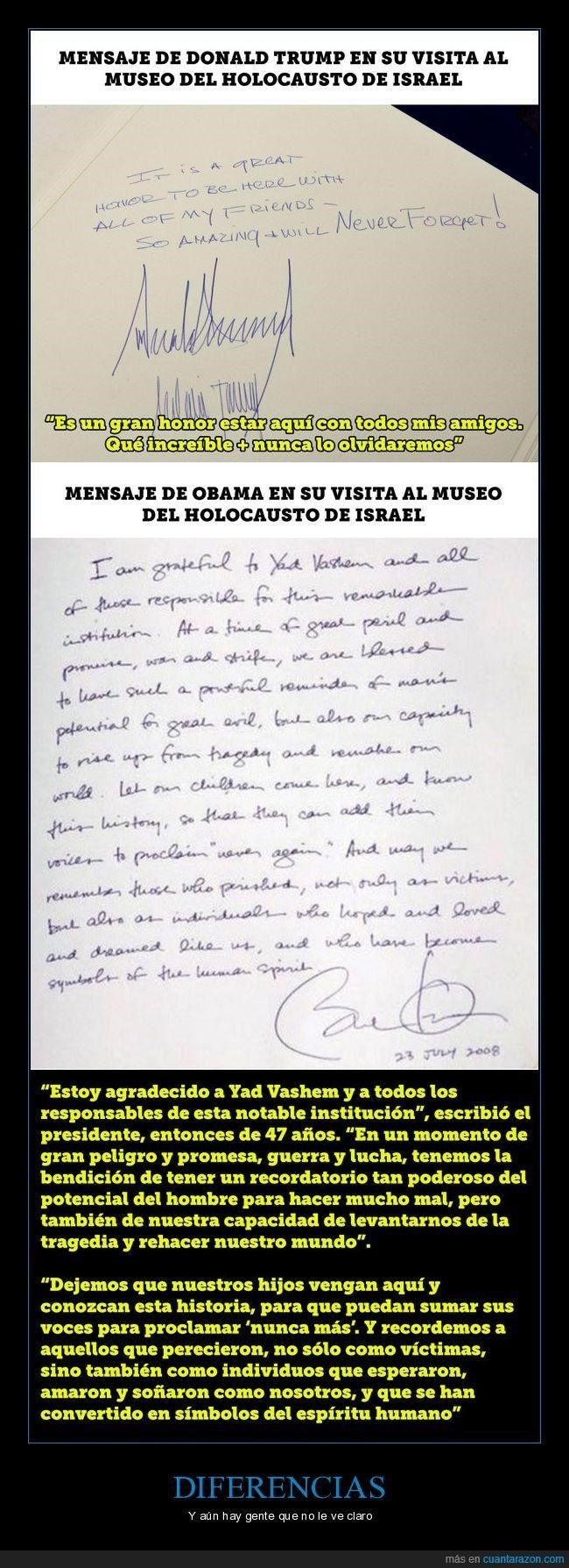 carta muestra la diferencia entre trump y obama