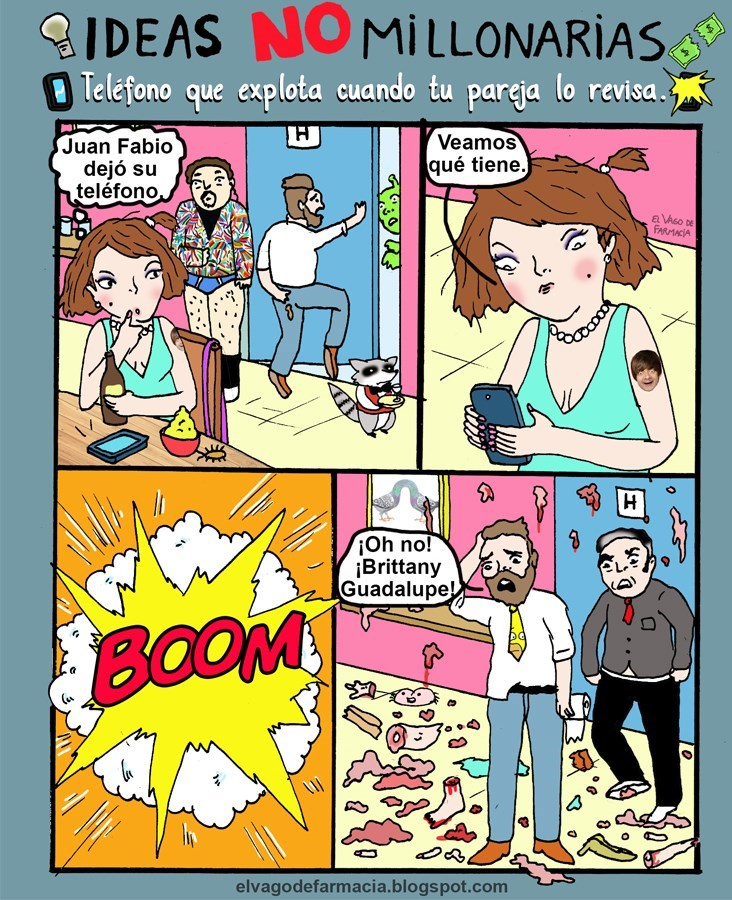 idea millonaria celular que estalla cuando novia revisa