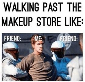 Helmet - WALKING PAST THE MAKEUP STORE LIKE: FRIEND ME FRIEND: