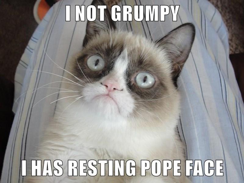 Grumpy cat just has resting pope face.