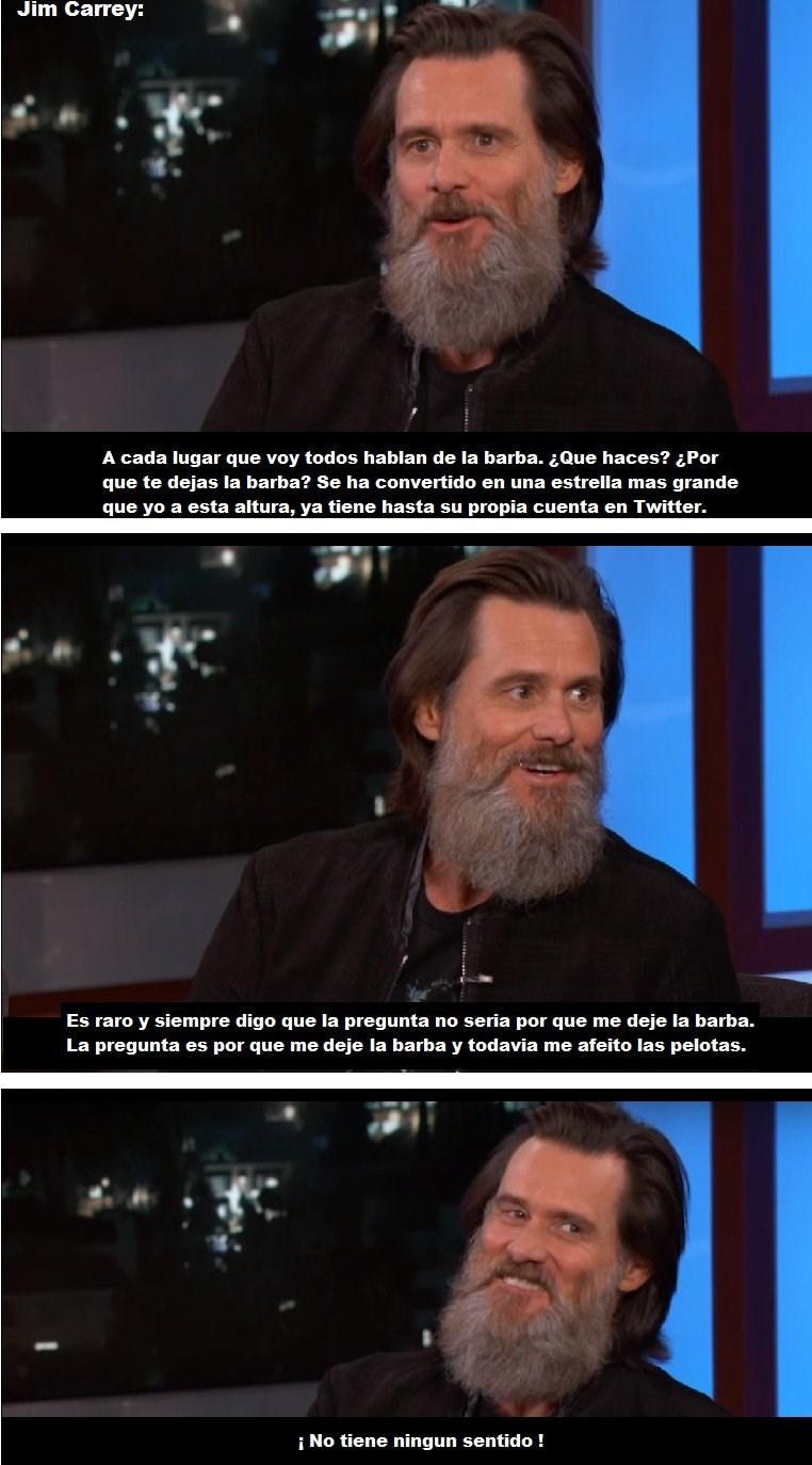 jim carey habla en una entrevista sobre su barba
