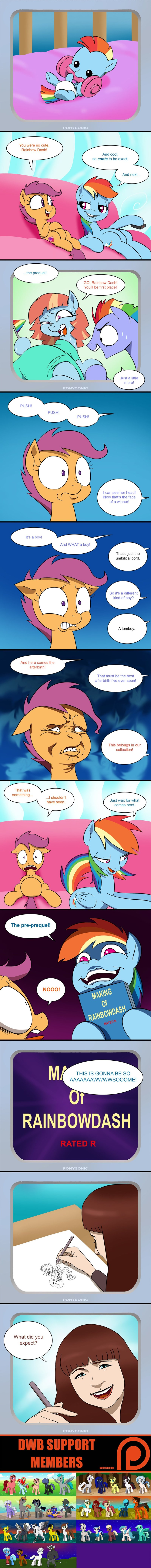 lauren faust bow hothoof parental glideance windy whistles comic that sounds naughty double w brothers Scootaloo rainbow dash - 9039600640