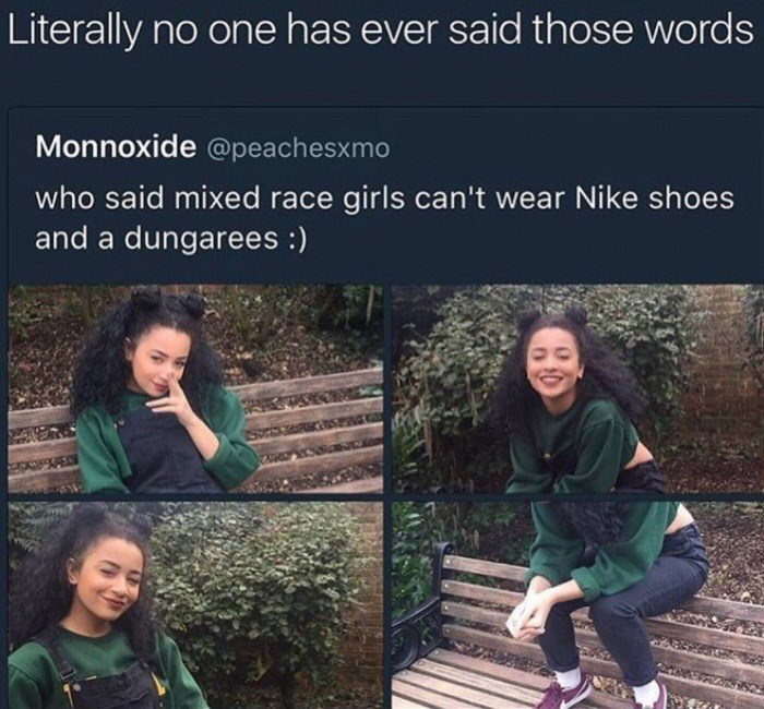 Wednesday meme with tweet calling out girl for posting her pics for attention
